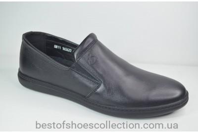 Мужские кожаные туфли черные Bastion 19050