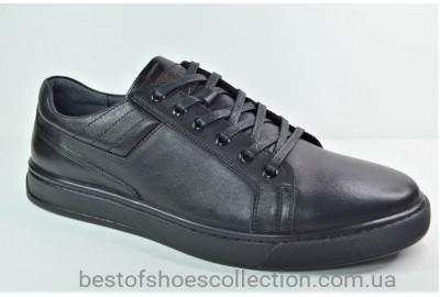 Мужские кожаные туфли черные Cevivo 5210