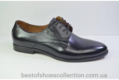 Мужские кожаные туфли черные Nord 448