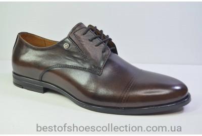 Мужские кожаные туфли коричневые Nord 448