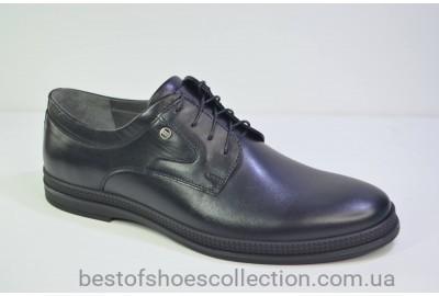 Мужские кожаные туфли черные IKOC 1329 - 1