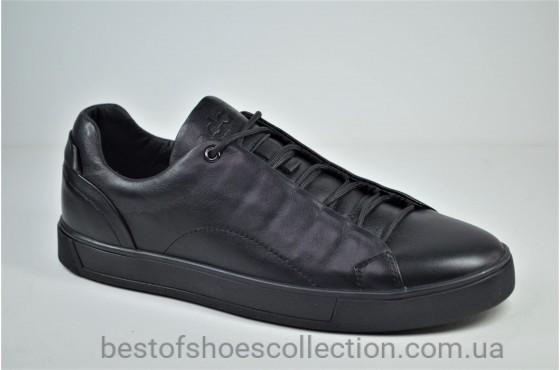 Мужские кожаные кеды черные eD-Ge Ked 04
