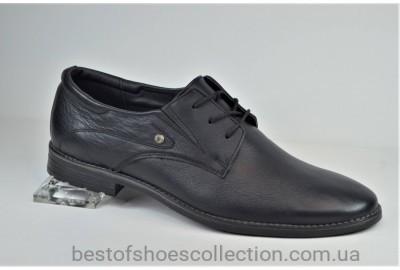 Мужские кожаные туфли великаны черные V.D.Y.