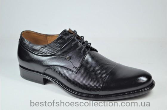 Мужские кожаные туфли черные Nord 425