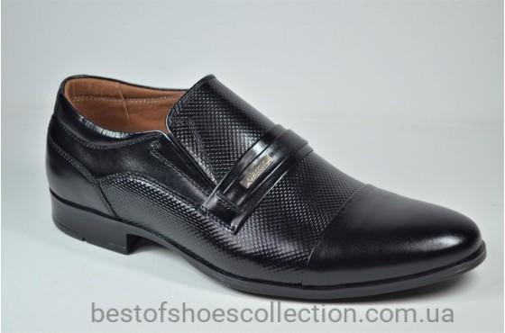 Мужские кожаные туфли черные Havryshko 413