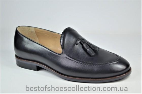 Мужские туфли лоферы черные IKOS 010 - 1