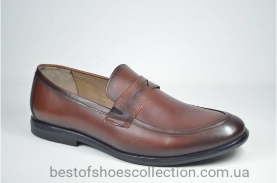 Мужские туфли лоферы рыжие Cevivo 4792