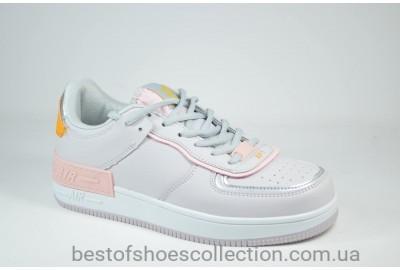 Женские спортивные туфли кеды серые с розовым Ditof 9165 - 12
