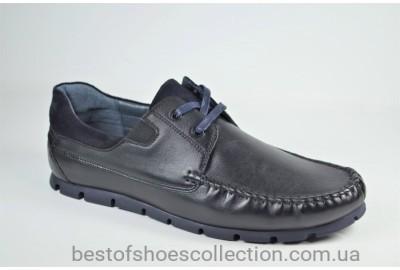 Мужские кожаные туфли мокасины черные KaDar 3214214