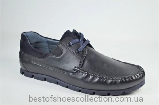 Мужские кожаные черные мокасины Kadar 3214214