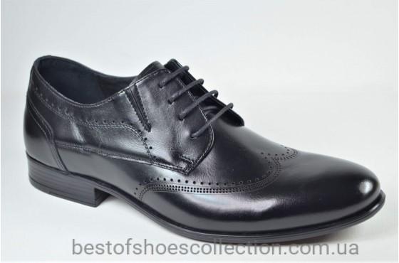 Мужские кожаные туфли черные L-Style 1269
