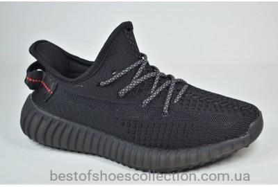 Подростковые модные кроссовки черные Restime Yeezy 21101