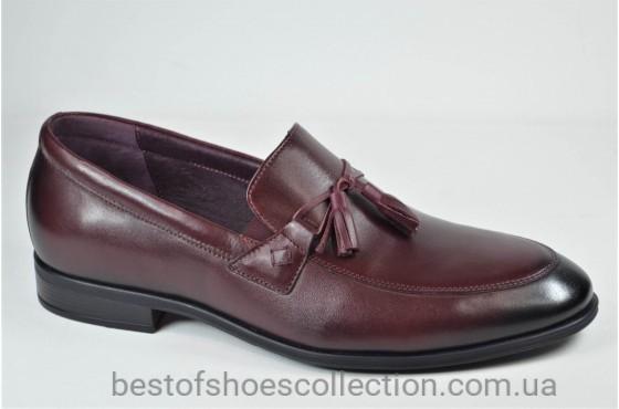 Мужские туфли лоферы бордовые L-Style 1223 - 3