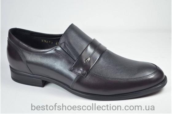 Мужские кожаные туфли черные с бордо IKOS 3368 - 9
