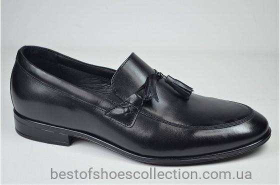 Мужские туфли лоферы черные L-Style 1223