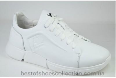 Мужские кожаные кроссовки белые Anri Alexus 211 - 31