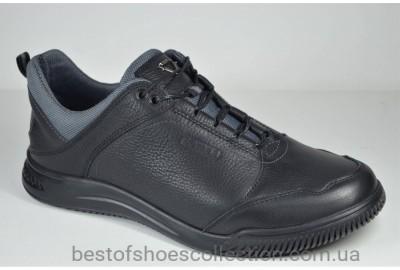 Мужские кожаные спортивные туфли комфорт черные Samas 770 - 1