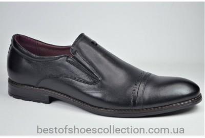 Мужские кожаные туфли великаны черные Vivaro 223 В