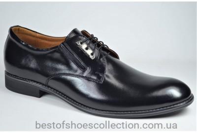Мужские кожаные туфли великаны черные Vivaro 950/20