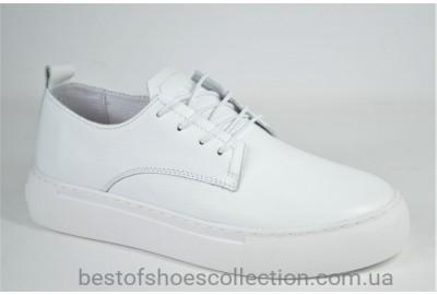Женские стильные кожаные туфли кеды белые Safari 122 - 5 - 505