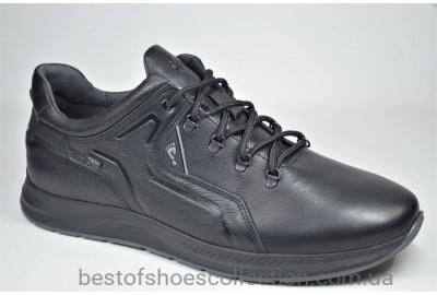 Мужские кожаные кроссовки великаны черные Clubshoes 19/41