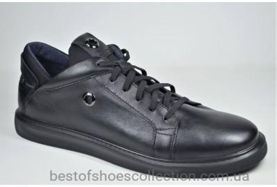 Мужские комфортные спортивные туфли великаны черные Vivaro 8066