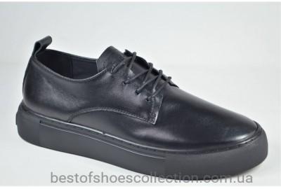 Женские стильные кожаные туфли кеды черные Safari 122 - 5 - 101