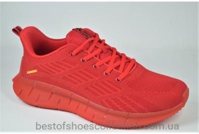 Мужские модные кроссовки сетка красные Supo 2205 - 6