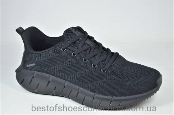 Мужские кроссовки сетка черные Supo 2205 - 1