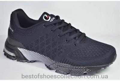 Мужские модные кроссовки сетка черные Classica 1060 - 6