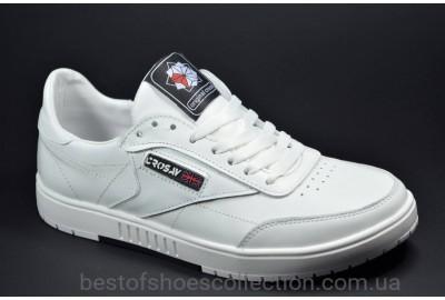 Подростковые спортивные кожаные туфли белые CROSSAV 58