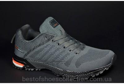 Мужские модные кроссовки сетка серые Bonote 8619 A - 12
