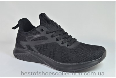 Мужские модные кроссовки сетка черные Bonote 8860 - 4