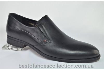 Мужские кожаные классические туфли черные IKOS 3833 - 1