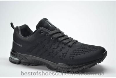 Подростковые кроссовки сетка черные Bonote 8619 B - 19