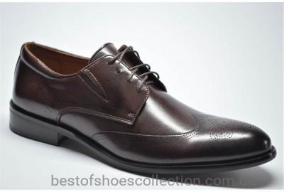 Мужские кожаные туфли броги коричневые Marriotti 210