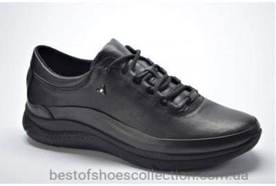 Мужские кожаные кроссовки черные Extrem 18517101