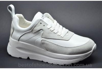 Женские кожаные кроссовки белые Best Vak 1021306Z