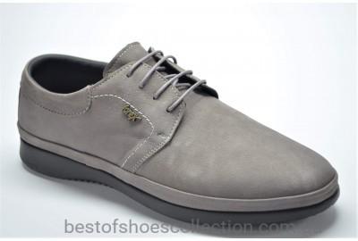 Мужские нубуковые туфли мокасины серые Forex anatomic 2960