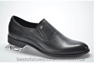 Мужские кожаные классические туфли черные Iguana 355459