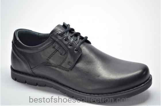 Мужские кожаные туфли черные Riko 761