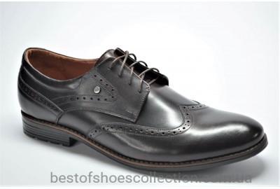 Мужские кожаные туфли броги великаны коричневые Vivaro 611/2