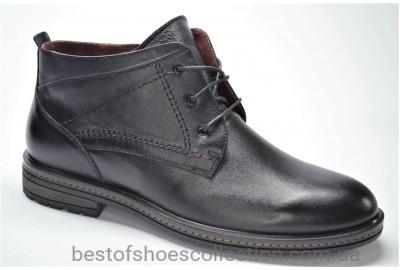 Мужские демисезонные кожаные ботинки черные L-Style 37251