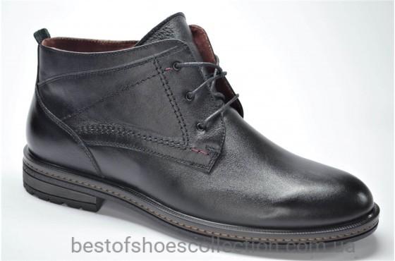 Мужские кожаные ботинки черные L-Style 37251