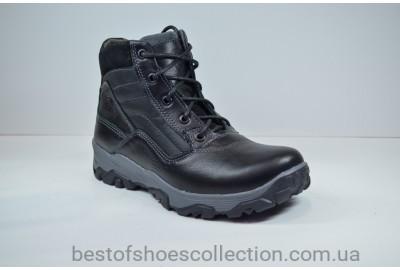 Подростковые кожаные ботинки черные зимние Maxus Скипер