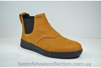 Мужские нубуковые ботинки челси зимние рыжие Safari 15858 - 1