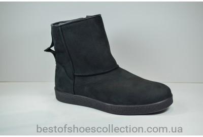 Мужские нубуковые ботинки угги черные Safari 76363 - 1