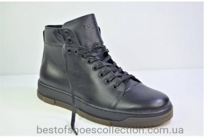 Мужские демисезонные кожаные ботинки черные Safari 29101 - 3