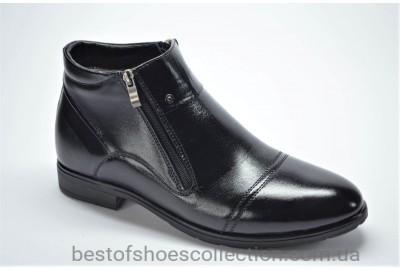Мужские зимние кожаные ботинки сапоги черные Nord 409